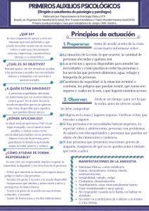primeros auxilios psicológicos venezuela, PAP